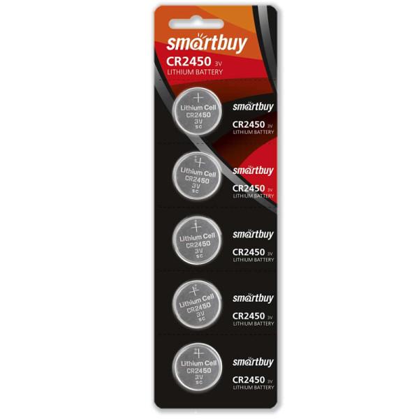 Батарейка литиевая Smartbuy CR2450-5BL
