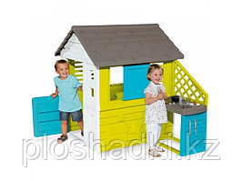 Игровой домик с кухней Синий 810703 Smoby Франция
