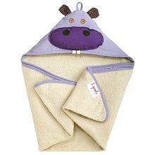 Полотенце с капюшоном 3 Sprouts Фиолетовый бегемотик