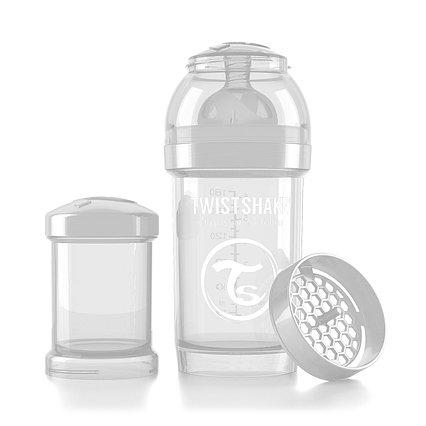 Антиколиковая бутылочка Twistshake для кормления 180 мл. Белая (Diamond)