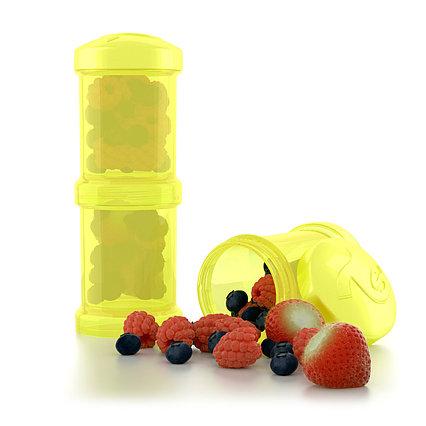 Контейнер для сухой смеси Twistshake 2 шт. 100 мл. Жёлтый (Starlight)