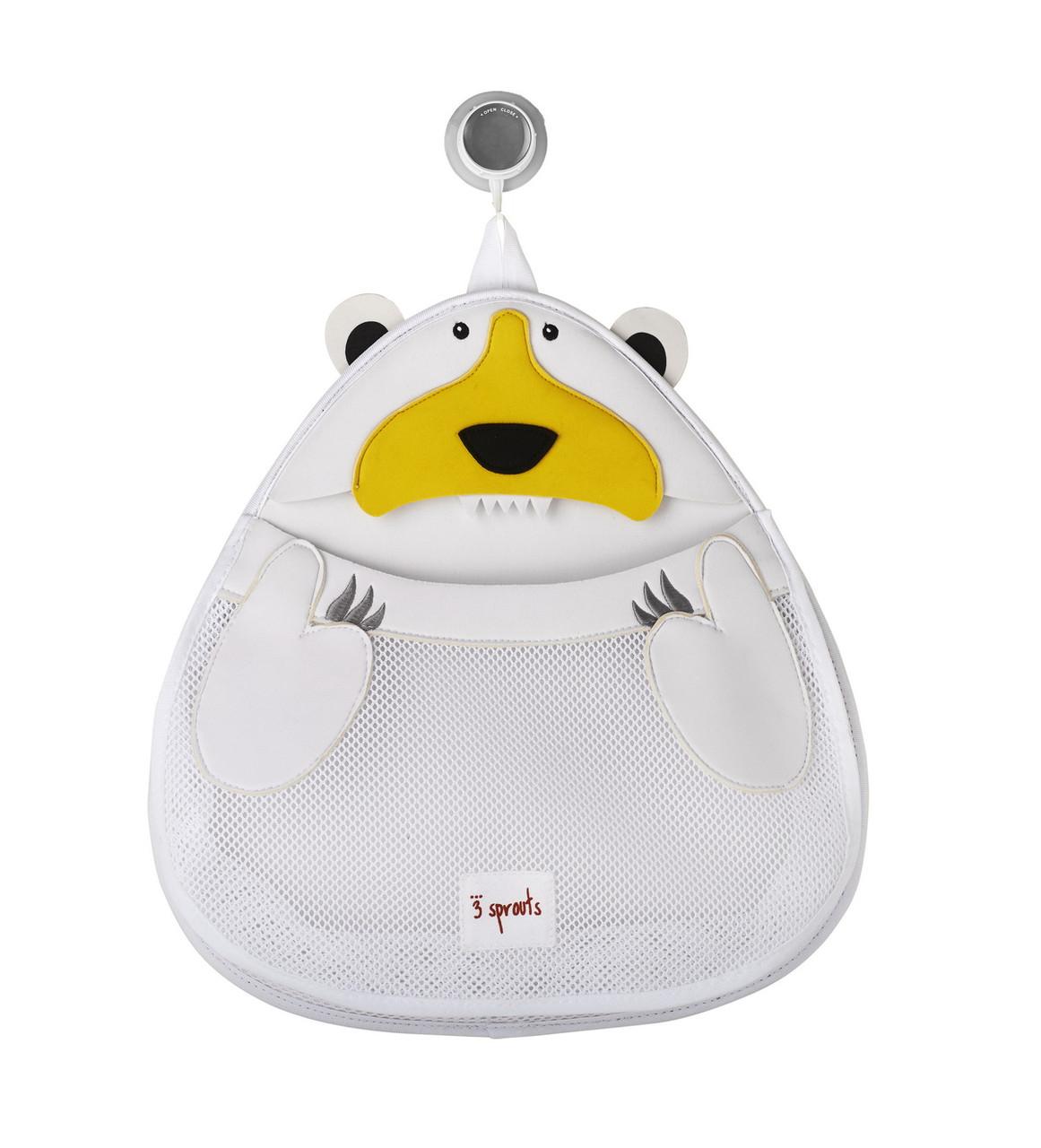Органайзер для ванны 3 Sprouts Белый мишка