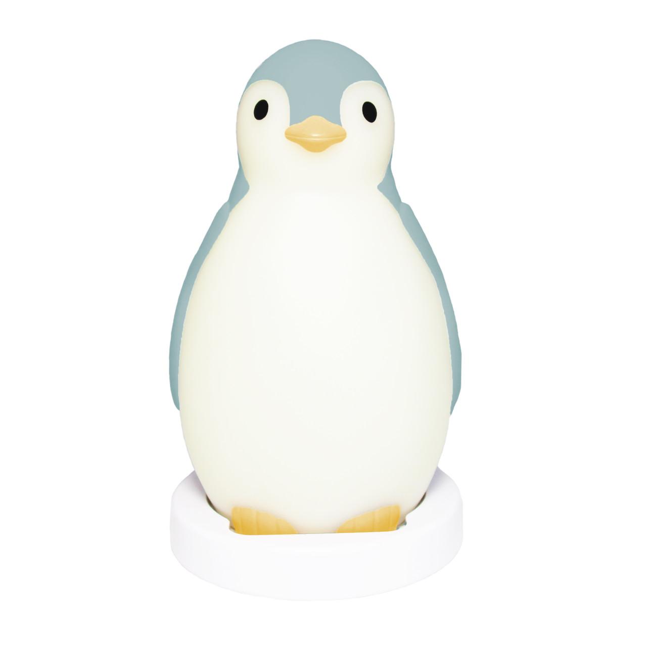 Беспроводная колонка+будильник+ночник пингвинёнок Пэм (PAM) ZAZU (синий)