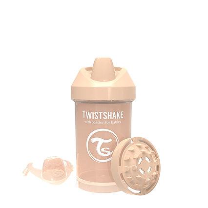 Поильник Twistshake Crawler Cup Pastel. 300 мл. Бежевый. Возраст 8+m