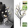 Светильник светодиод Веточки белой розы 50х10см 581-30