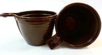 Чашка кофейная коричнева