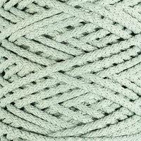 Шнур для вязания с сердечником 100 полиэфир, ширина 5 мм 100м/550гр (21 серо-зеленый)