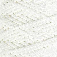 Шнур для вязания с сердечником 100 полиэфир, ширина 5 мм 100м/550гр (171 белый)