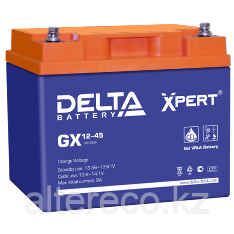 Аккумулятор Delta GX12-45 Xpert (12В, 45Ач), фото 2