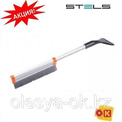 Щетка-сметка для снега со скребком, телескопическая 41-60 см. STELS