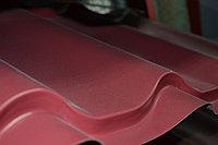 """Металлочерепица Монтеррей (полимерное покрытие"""" Sun matt"""") 3005 Бордо, фото 1"""