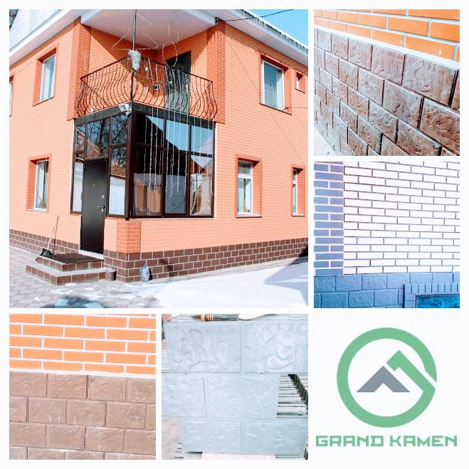 Фасадные облицовочные бетонные панели для цоколя. Панель Легион