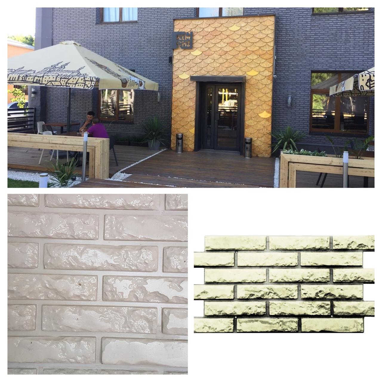 Фасадные облицовочные бетонные панели под кирпич. Старый кирпич