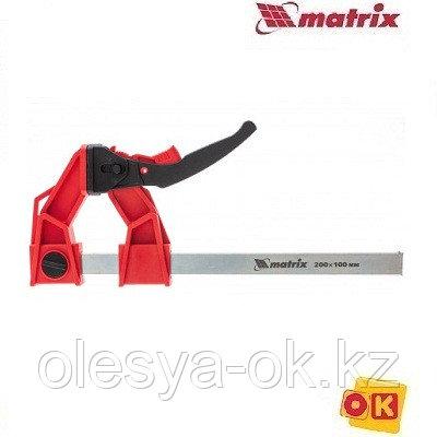 Струбцина храповый механизм 250 х 100 х 401 мм. MATRIX