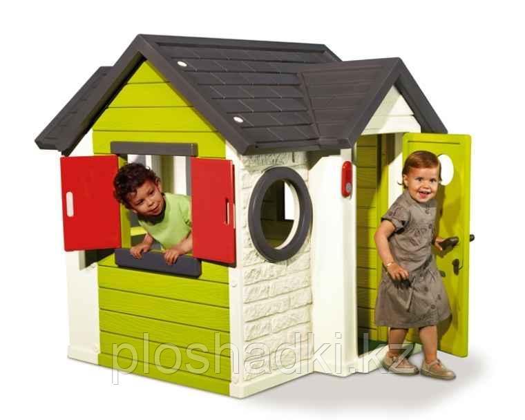 Детский игровой домик с замком и со звонком Smoby 810402