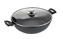 Сковорода-сотейник Кукмара антипригарный 300/85мм с308а со стекл. крышкой съем.руч.