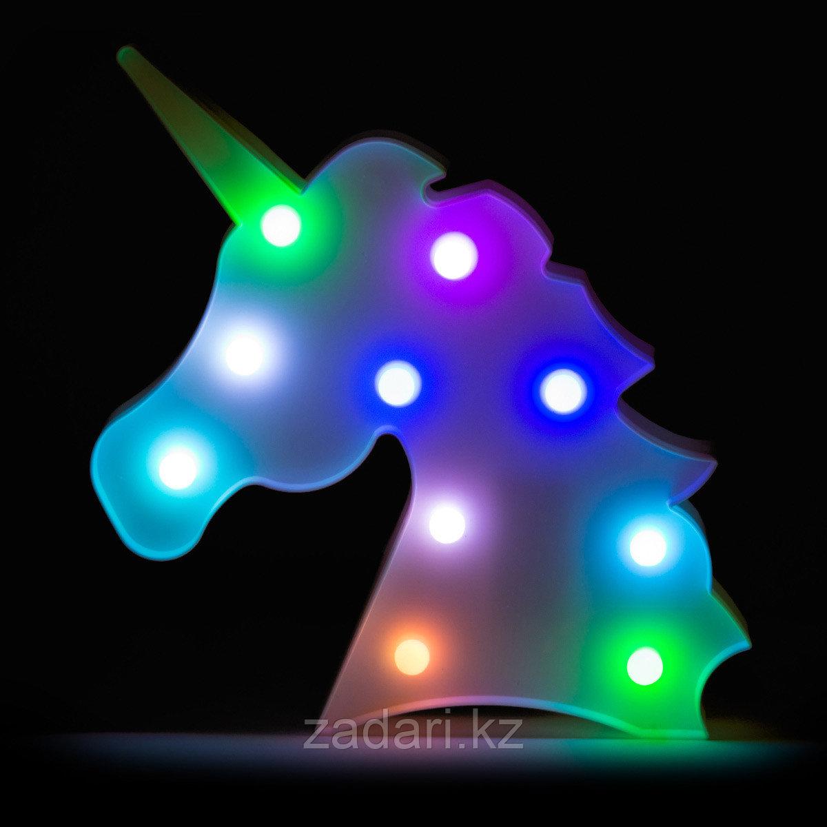 Ночник «Единорог» с разноцветными лампочками