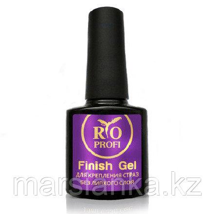 Finish Gel для крепления страз супер густой без липкого слоя Rio Profi, 10 мл