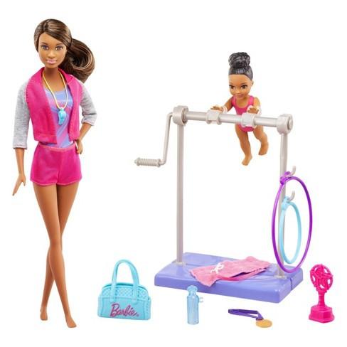 """Barbie """"Кем быть?"""" Игровой набор Barbie """"Гимнастика"""", афроамериканка"""
