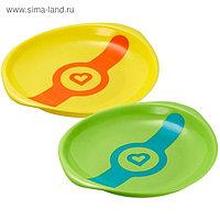 Набор детских тарелок White Hot, 2 шт., диаметр 19 см, от 6 мес.