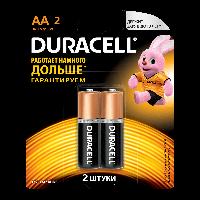Батарейка Duracell Basic AA (LR06) алкалиновая, 2BL