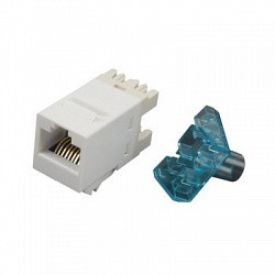 AMP Модульное гнездо UTP 110Connect SL-типа, RJ-45 Кат.6, Цвет: белый