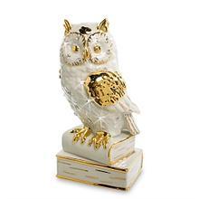 Фарфоровая статуэтка Сова. Ручная работа, Италия
