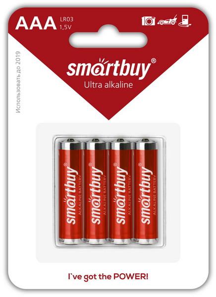 Батарейка алкалиновая Smartbuy LR03-4BL (AAA 1,5V)