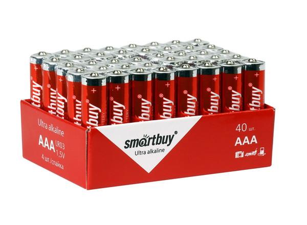 Батарейка алкалиновая Smartbuy LR03-40 bulk (ААА, 1,5V)
