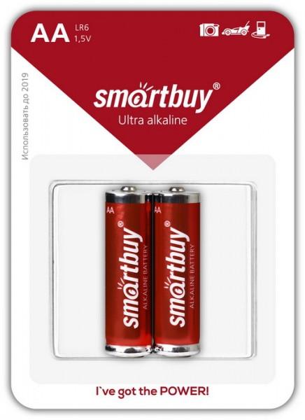 Батарейка алкалиновая Smartbuy LR6-2BL (AA 1,5V)