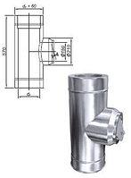 Труба с регулятором тяги PZO (DN 200)