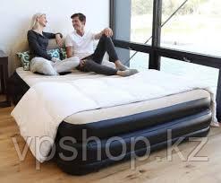 Двухместная надувная кровать со спинкой, со встроенным насосом, Bestway 67483