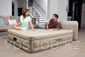 Двуспальная надувная кровать со спинкой и встроенным насосом, Bestway 69019