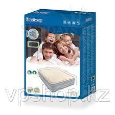 Двуспальная надувная кровать 152х203х46 см со встроенным насосом, Bestway 67486