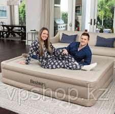 Двуспальная надувная кровать 152х203х43 см с насосом, Bestway 69011