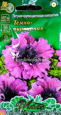 """Семена пакетированные Инвент+ Люкс. Петуния крупноцветковая """"Темно-пурная"""", фото 2"""