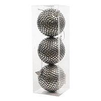 Шар серебристый d8см 3шт/уп KA456601