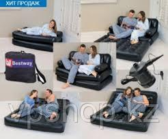 Надувной диван-трансформер 5 в 1 188х152х64 см с насосом, Bestway 75056