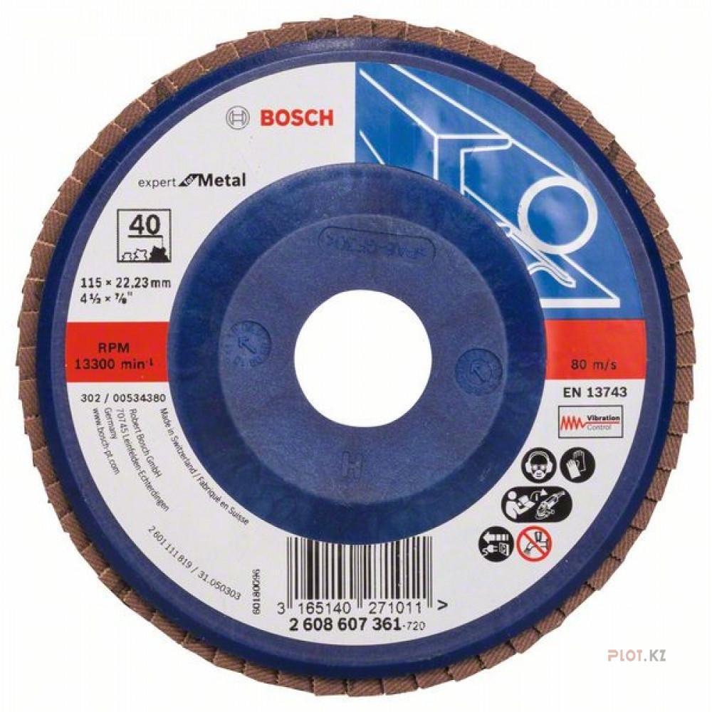 Круг лепестк 125мм K120 Prof for Metal 2608607356