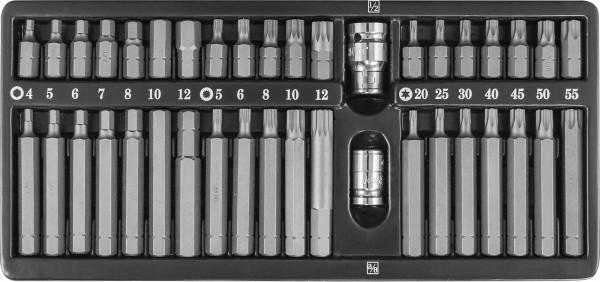 Набор вставок-бит 10 мм DR с переходниками, 40 предметов S29H4140S
