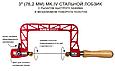 Лобзики ручные Knew Concept Heavy Duty, глубина реза 75 мм, 125 мм, 200 мм, фото 2