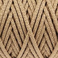 Шнур для вязания с сердечником 100 полиэфир, ширина 5 мм 100м/550гр (137 бежевый)