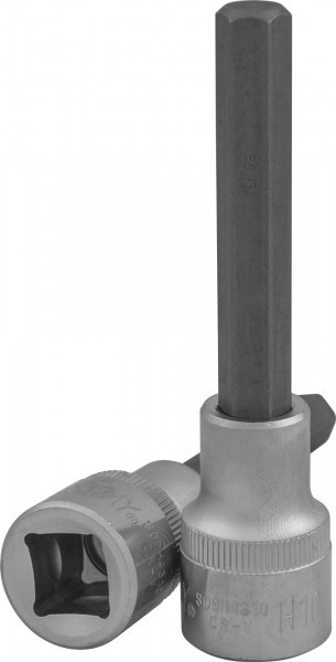 """Насадка торцевая 1/2""""DR с вставкой-битой шестигранной, H12, 100 мм S09H4312"""