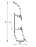 Плинтус IDEAL Элит 67мм Дуб светлый 212, фото 2