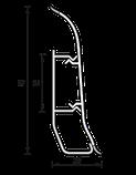 Плинтус IDEAL Элит 67мм Орех темный 293, фото 2