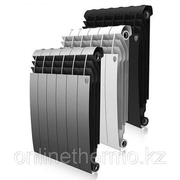 Радиатор биметаллический Biliner 500/90 Royal Thermo черный выпуклый (РОССИЯ) - фото 3