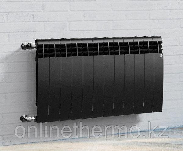 Радиатор биметаллический Biliner 500/90 Royal Thermo черный выпуклый (РОССИЯ) - фото 4