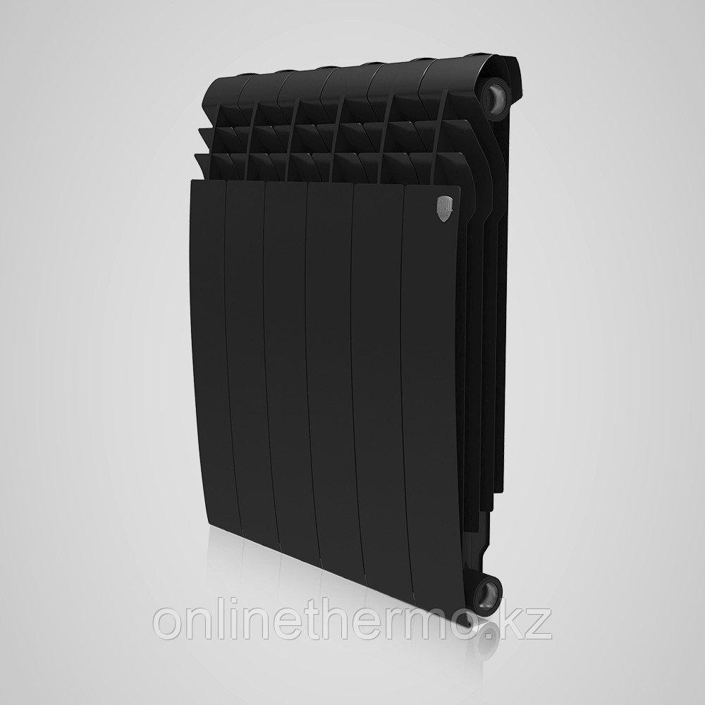 Радиатор биметаллический Biliner 500/90 Royal Thermo черный выпуклый (РОССИЯ) - фото 2