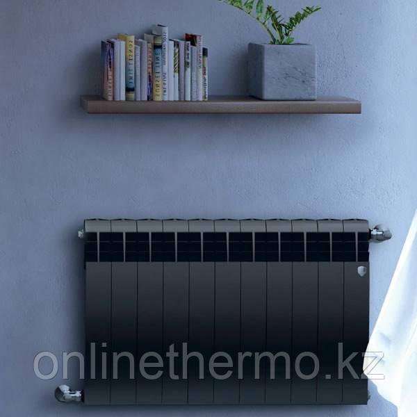 Радиатор биметаллический Biliner 500/90 Royal Thermo черный выпуклый (РОССИЯ) - фото 5