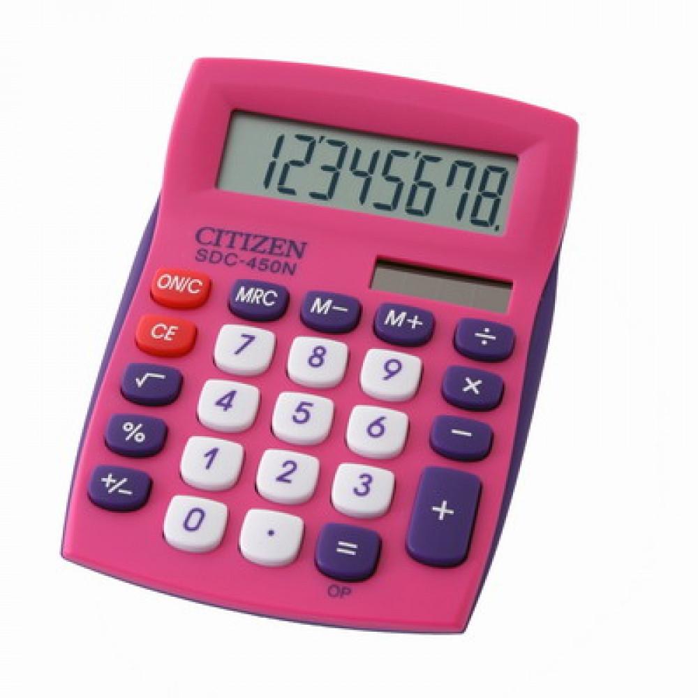 Калькулятор CITIZEN SDC-450NPKBP 8 разрядный розовый